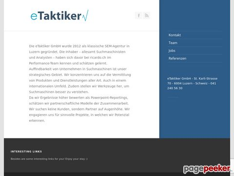 eTaktiker - Suchmaschinenoptimierung in Luzern