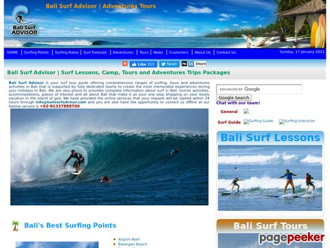 Bali Surf Advisor | Adventures, Tours, Hotels - Packages