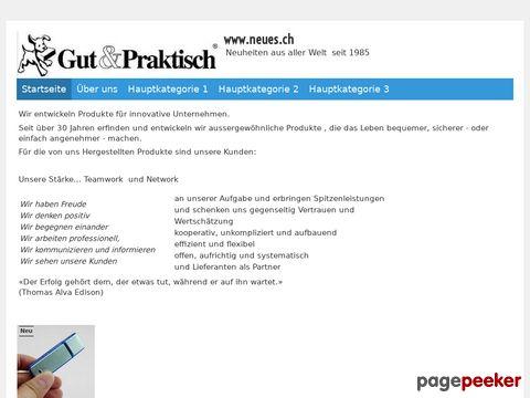 neues.ch Gut & Praktisch seit 1985