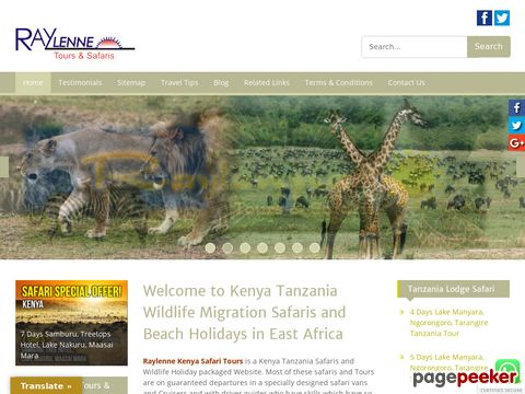 Kenya Tanzania safaris Holiday safari Tour