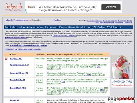 Linker.ch - Autonummern - Suche