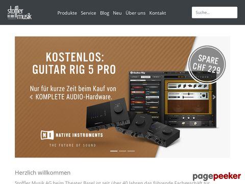 Stoffler Musik AG - Musikinstrumente günstig und gut einkaufen.