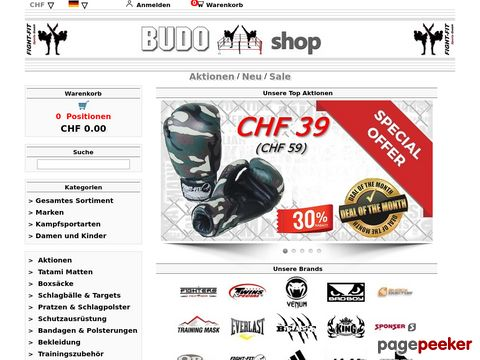 budo-shop.ch - Budo Shop Abate - Martial Art Artikel