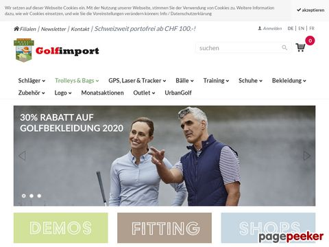 golfimport.ch - Golf Online Shop