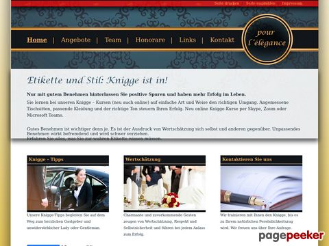 knigge-elegance.ch - Etikette und Stil