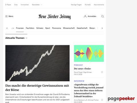 NZZ·Finfox - Anlagefonds: Übersicht