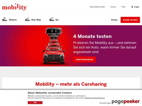 Mobility® - CarSharing - Schweiz