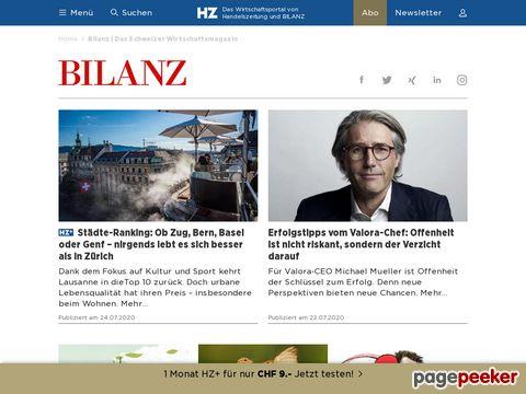 BILANZ - Das Wirtschaftsmagazin der Schweiz